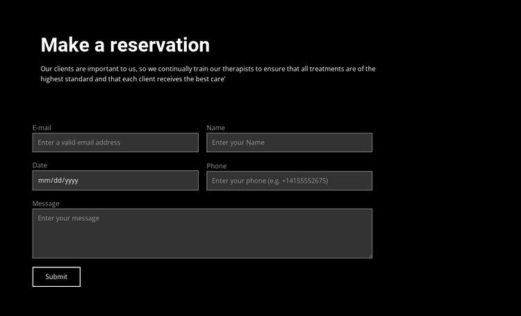 Make an order CSS Template