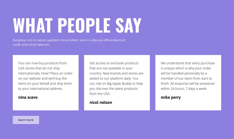 What people say HTML5 Template