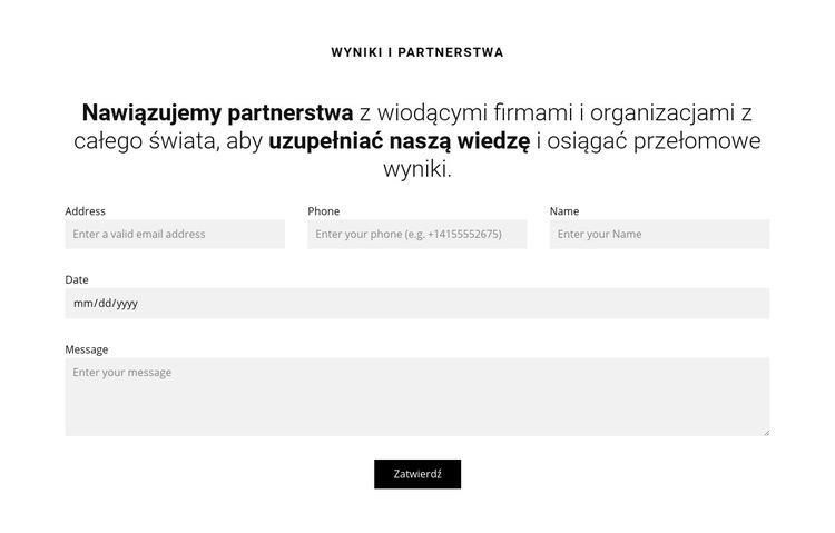 Umów się na konsultację specjalistyczną Szablon witryny sieci Web