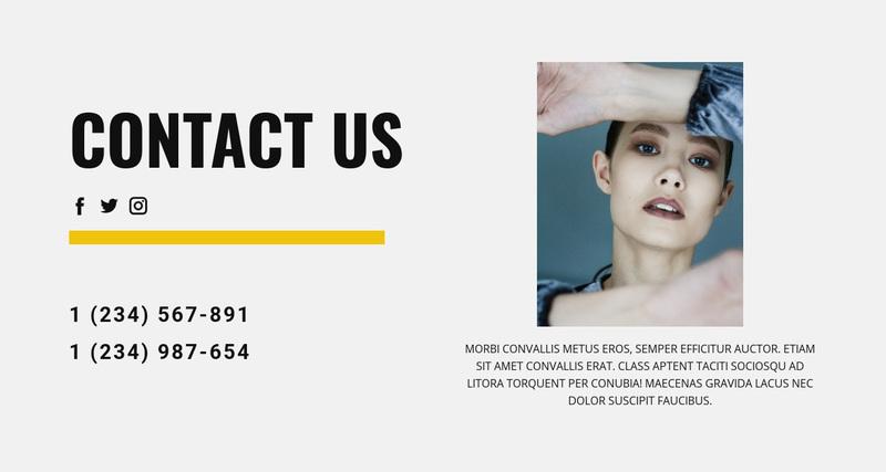 Contact us Website Creator