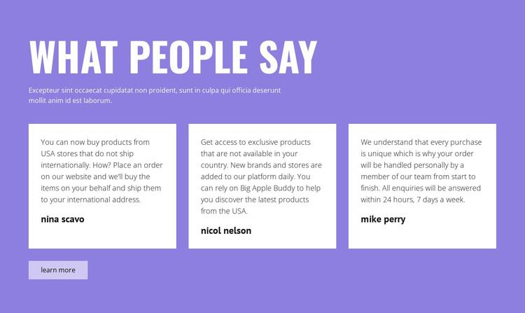 Positive testimonials WordPress Theme