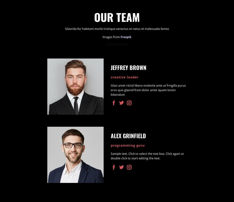 We create solutions CSS Template