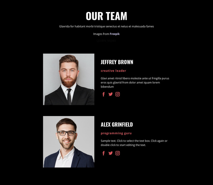 We create solutions Website Mockup
