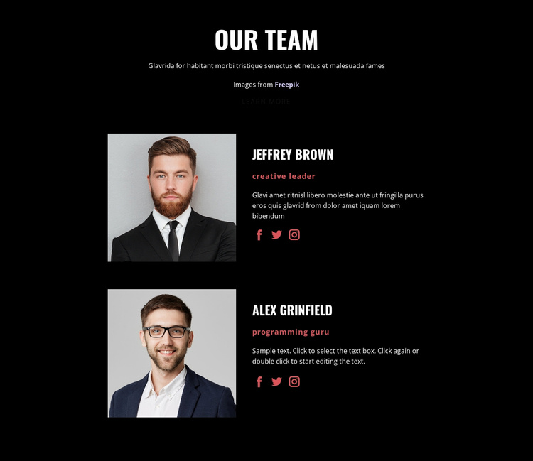 We create solutions Landing Page