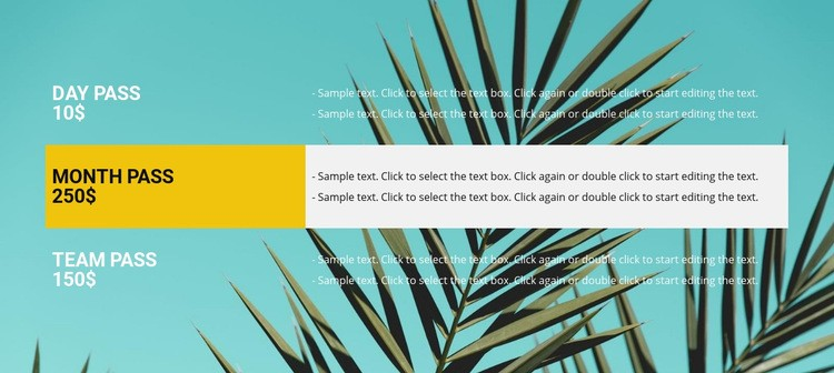 Tropical travel Html Code Example