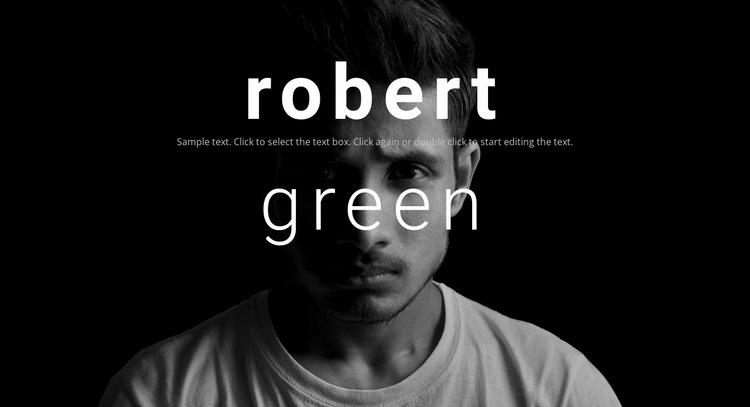 About Robert Green HTML5 Template