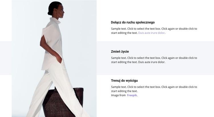 Nowe trendy w wiosennej kolekcji Szablon witryny sieci Web