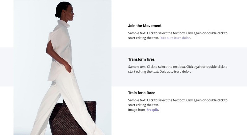 New trends in spring collection Website Maker