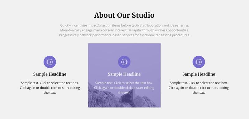 About our architecture studio Web Page Design