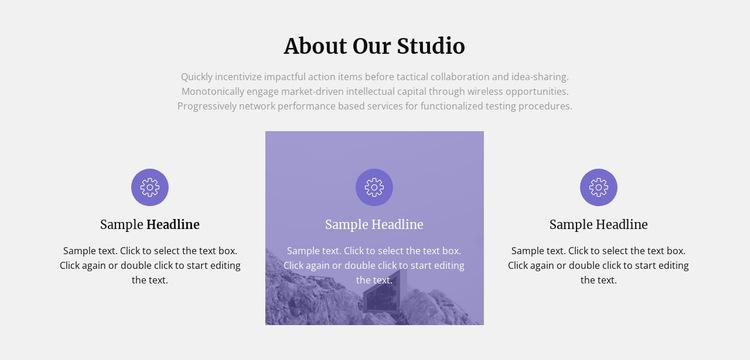About our architecture studio Website Builder Templates