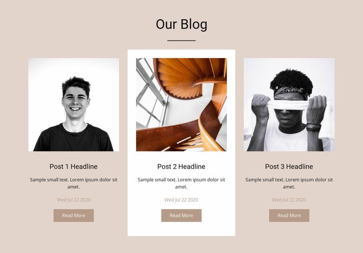 Our blog Website Mockup