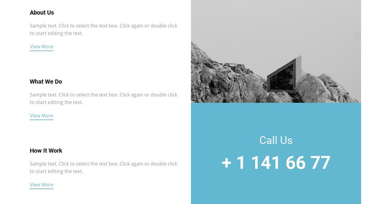 Our features and phone Html Code Example