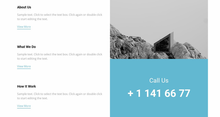 Our features and phone Website Template