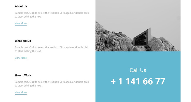 Our features and phone WordPress Theme