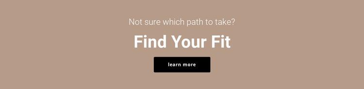 Find your fit Html Website Builder