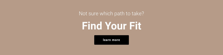 Find your fit Website Builder