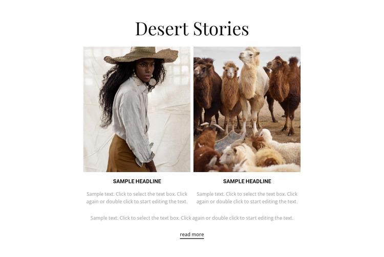 Desert stories WordPress Website Builder