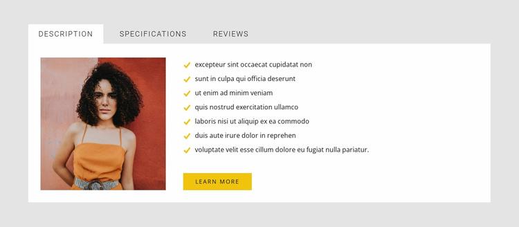 Art tabs Website Template