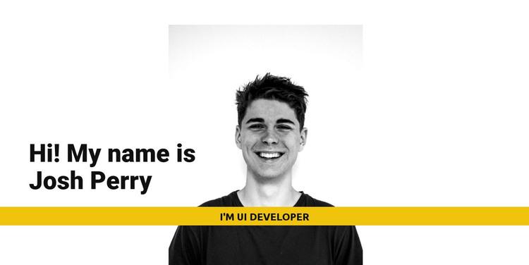 I'm Josh Perry HTML Template