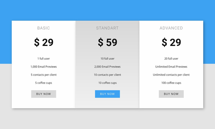 Our pricing Website Builder