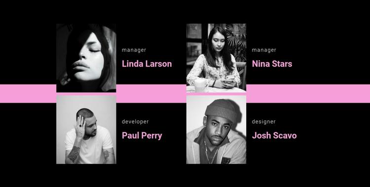 Our diverse team Website Builder Software