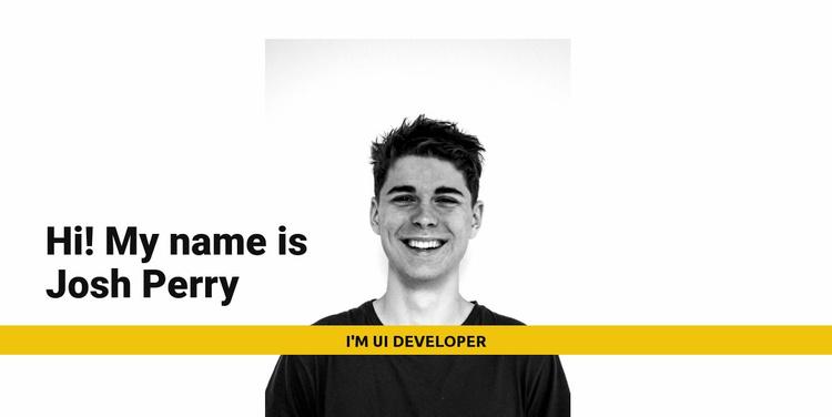 I'm Josh Perry Website Template
