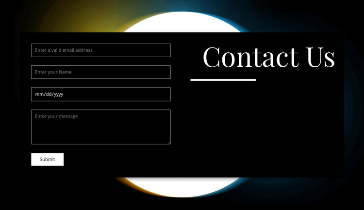 Make an appointment One Page Template