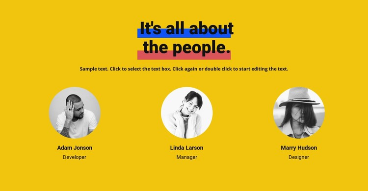 All about team CSS Template
