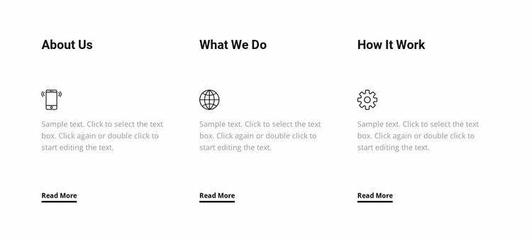 We care about making future Website Mockup