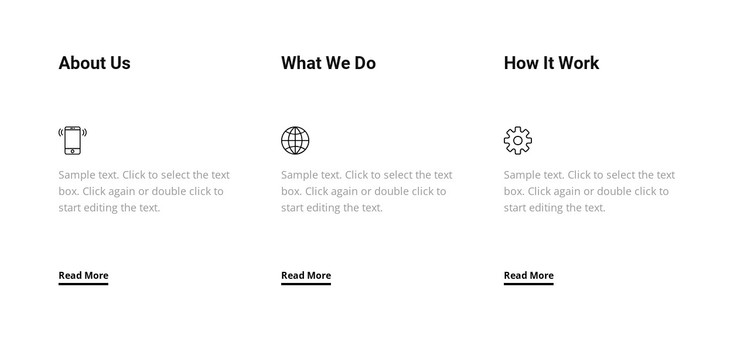 Our services WordPress Template