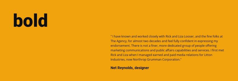 Bold style in design Website Maker