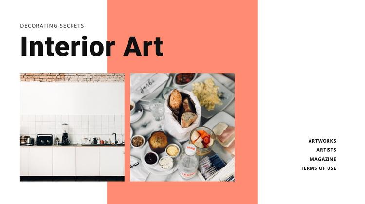 Interior for cuisine  Joomla Page Builder