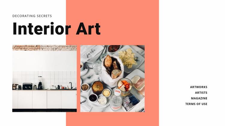 Interior for cuisine  Website Mockup