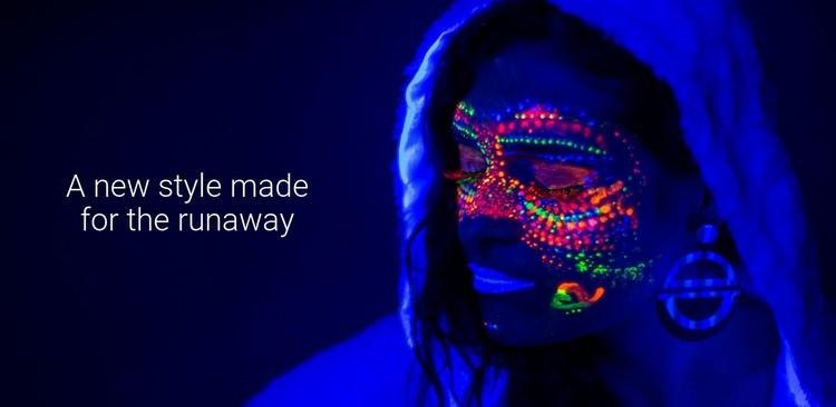 New neon style WordPress Template