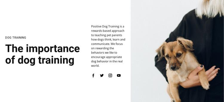 Dog training HTML Template