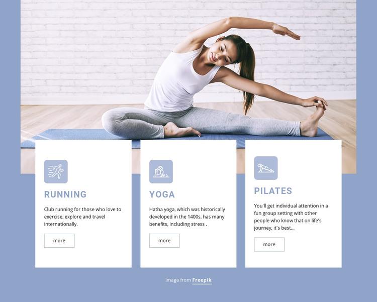 Strength training classes HTML Template