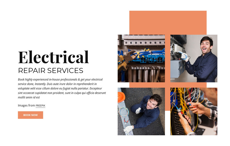 Electrical Repair Services HTML5 Template