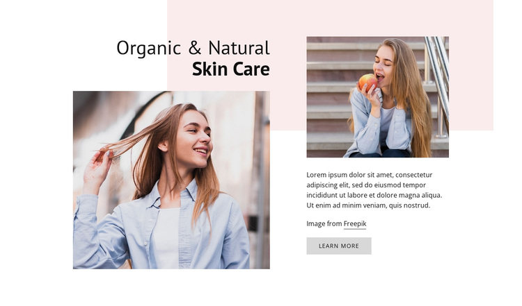 Natural Skin Care Joomla Page Builder