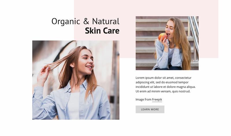 Natural Skin Care Web Page Designer