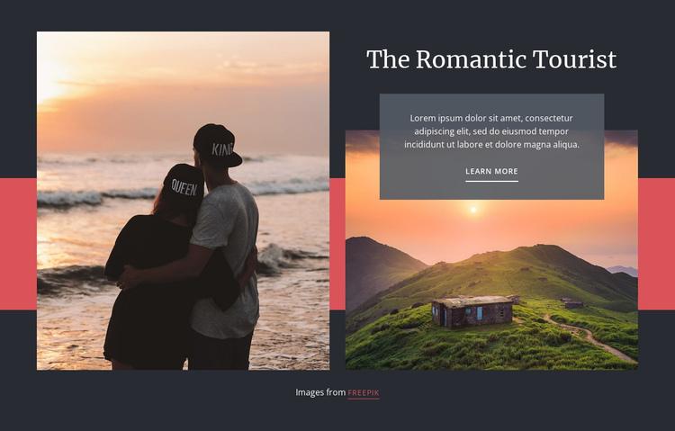 Romantic Travel Website Builder Software