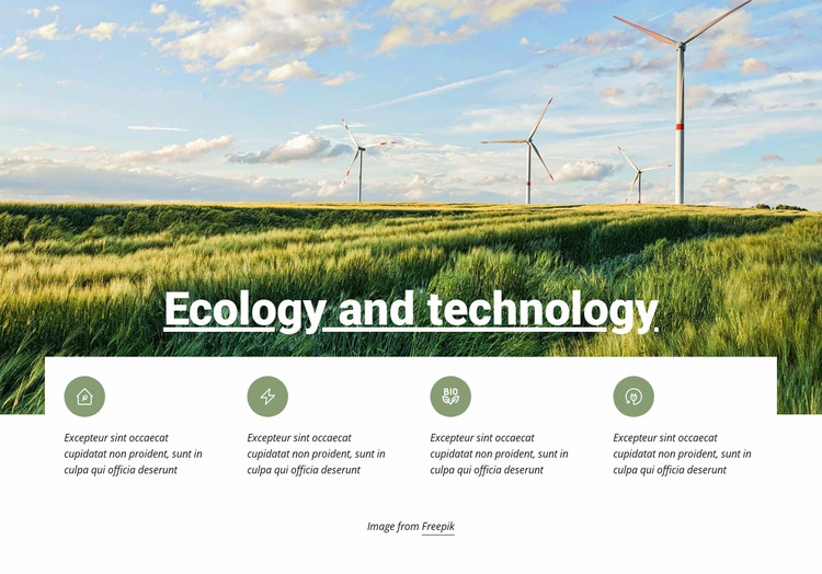 Ecology and Technology Html Website Builder