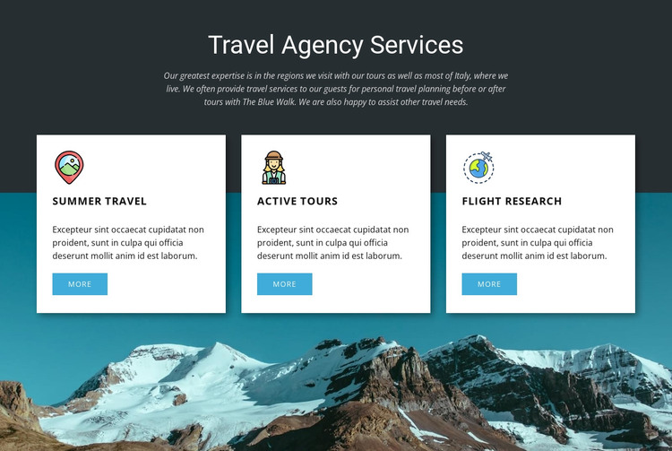 Travel Agency Services Web Design