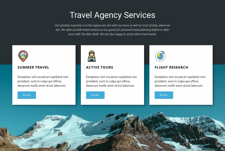 Travel Agency Services Landing Page