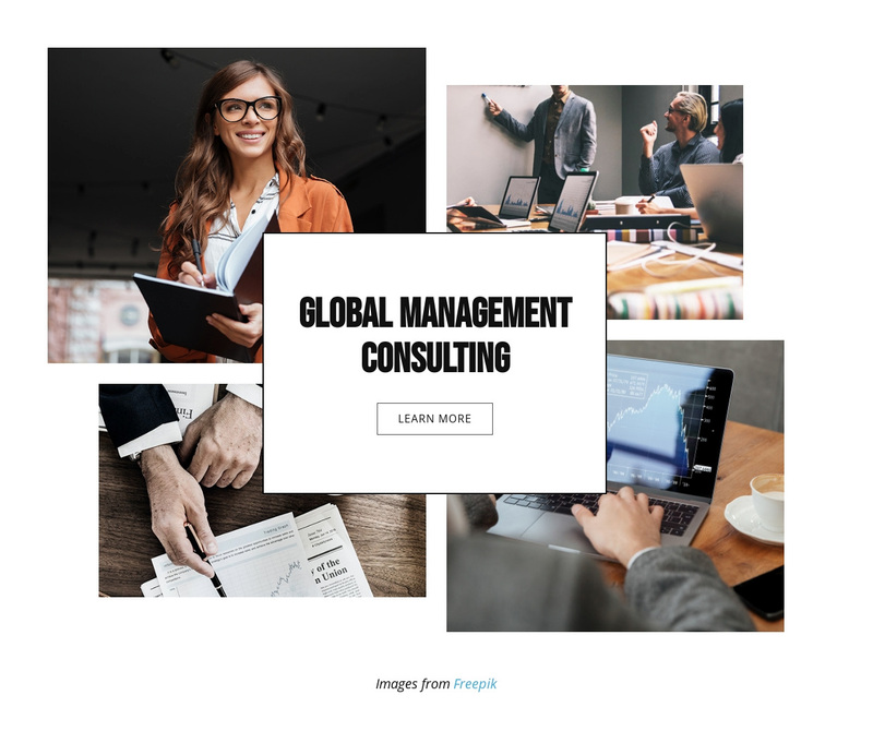 Global Management Consulting Web Page Design