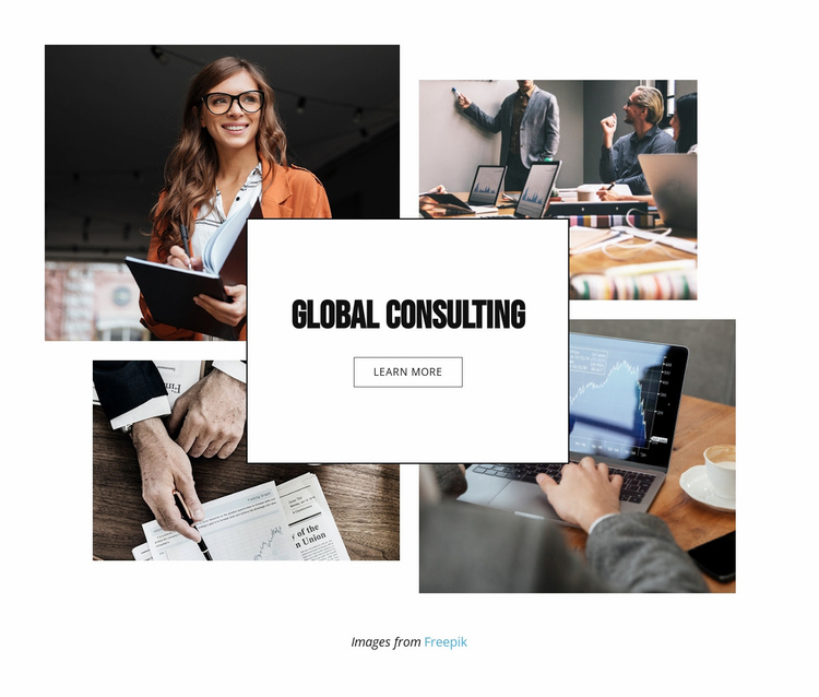 Global Management Consulting Landing Page