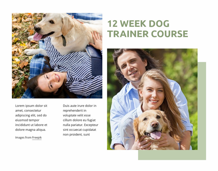Dog trainer Course Website Template
