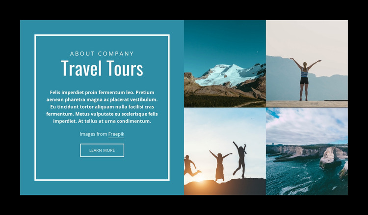 Travel Tours Web Design