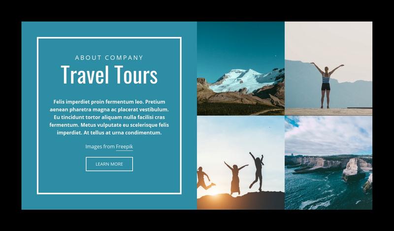 Travel Tours Website Creator