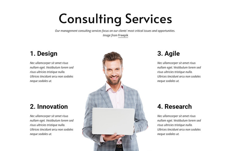 Build an agile and resilient business HTML Template
