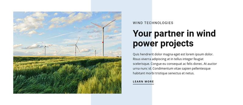 Wind Power Technologies Web Page Design
